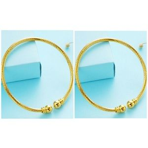 NEW{2} Fashion gold bangle bracelets